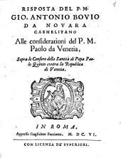 Risposta ... alle consideratione del P. M. Paolo da Venetia