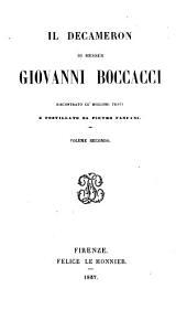 Il Decameron di messer Giovanni Boccacci: Volume 2