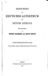 Zeitschrift für Deutsches Altertum und Deutsche Literatur: Band 35