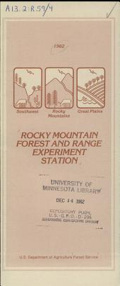 Rocky Mountain Forest and Range Experiment Station