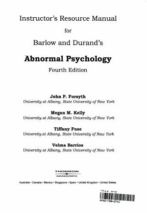 Irm Abnormal Psychology PDF