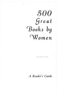 500 Great Books by Women PDF