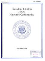 President Bill Clinton and the Hispanic Community PDF