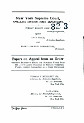 New York Supreme Court, Appellate Division- First Department