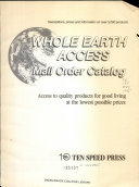 Whole Earth Access Mail Order Catalog PDF