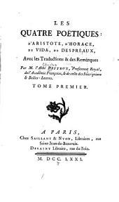 Les quatre Poétiques: d'Aristote, d'Horace, de Vida, de Despréaux