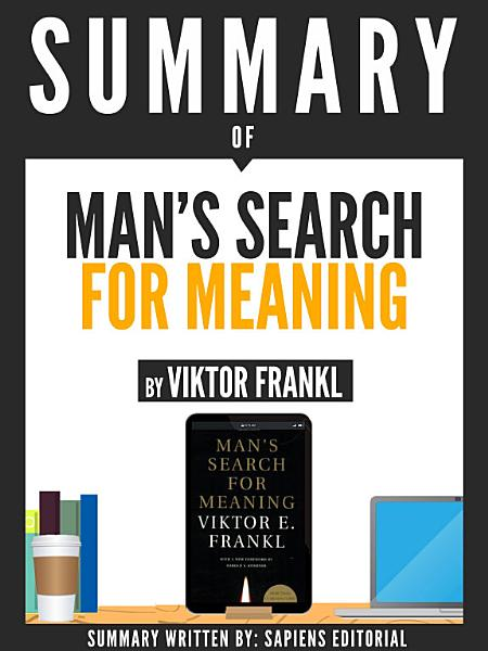 Download Summary Of  Man s Search For Meaning   By Viktor Frankl  Book