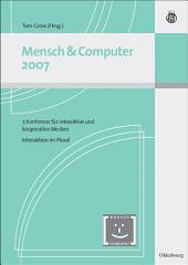 Mensch & Computer Interaktion 2007: Interaktion im Plural