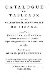 Catalogue des tableaux de la galerie impériale & royale de Vienne