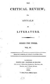 The Critical Review: Or, Annals of Literature: Volume 4