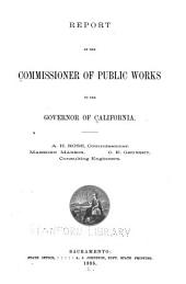 Report of the Commissioner of Public Works to the Governor of California