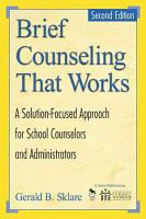 Brief Counseling That Works PDF