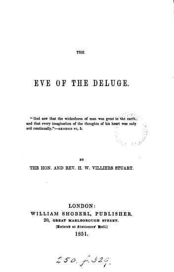 The Eve of the Deluge PDF