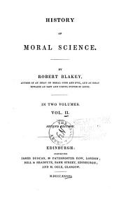History of Moral Science: Volume 2