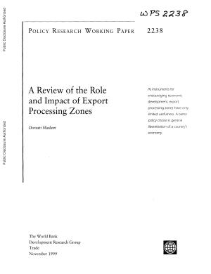 A Review of the Role and Impact of Export Processing Zones