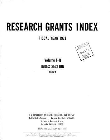 Research Grants Index PDF