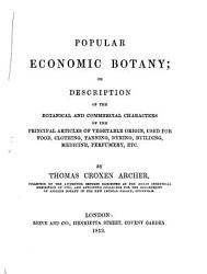 Popular Economic Botany Book PDF