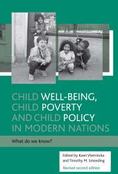Child Well being  Child Poverty and Child Policy PDF