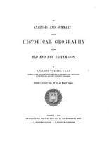 An Analysis and Summary of the Historical Geography of the Old and New Testaments PDF