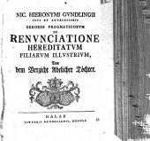 De renunciatione hereditatum filiarum illustrium, von dem Verzicht adelicher Töchter