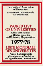World List of Universities 1977–78 / Liste Mondiale des Universites