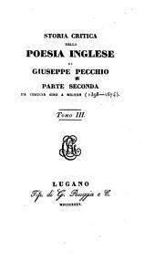 Storia critica della poesia inglese: Volumi 3-4