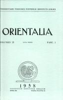 Orientalia Vol 27 PDF