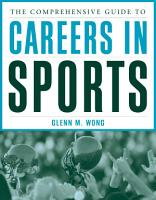 The Comprehensive Guide to Careers in Sports PDF