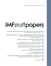 IMF Staff Papers: Volume 49, Issue 3