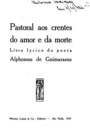 Pastoral aos crentes do amor e da morte PDF