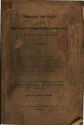 Rathschläge und Fragen an die Mitglieder von Th. v. Heuglin's Expedition nach Inner-Afrika