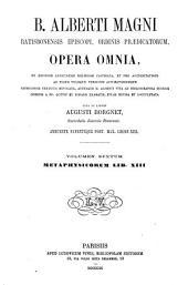 B. Alberti Magni Opera omnia: Volume 6