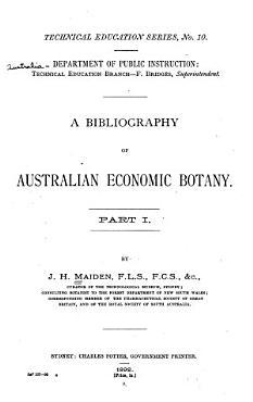 A Bibliography of Australian Economic Botany PDF