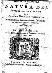 Disputatio publica, no. 4. Theses theologicæ de natura Dei, etc