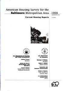 American Housing Survey for the Baltimore Metropolitan Area  1998 Book