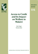 Access to Credit and Its Impact on Welfare in Malawi