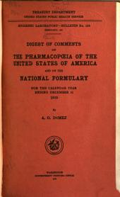 Digest of Comments on The Pharmacopoeia of the United States of America and The National Formulary for the Calendar Year Ending December 31 ...: Issues 129-134
