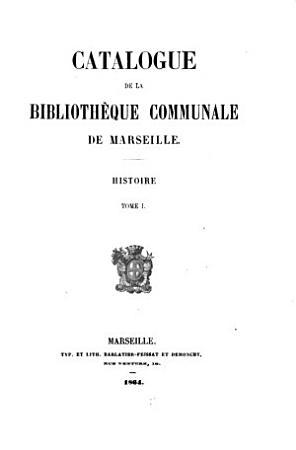 Catalogue de la Biblioth  que communale de Marseille PDF