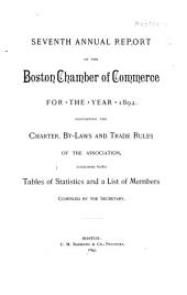 Annual Report of the Boston Chamber of Commerce: Issue 7