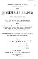 The Shakespeare Reader PDF