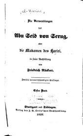 Die Verwandlungen des Abu Seid von Serug: oder die Makamen des Hariri, Bände 1-2