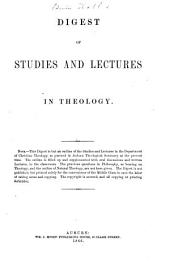 Digest of Studies and Lectures in Theology