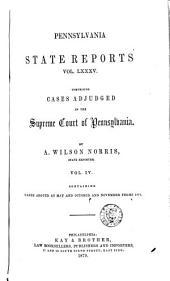 Pennsylvania State Reports: Volume 85