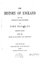 The History of England from the Accession of James the Second: Volumes 9-10