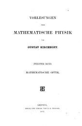 Vorlesungen über mathematische Physik: Band 2