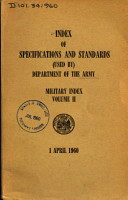 Index of Specifications and Standards  used By  Department of the Army PDF