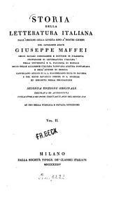 Storia della letteratura italiana dall'origine della lingua sino à nostri giorni: ad uso della pubblica e privata istruzione. 2