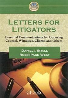 Letters for Litigators Book