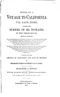 Notes of a Voyage to California Via Cape Horn PDF