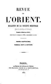Revue de l'Orient: Volumes 7-8